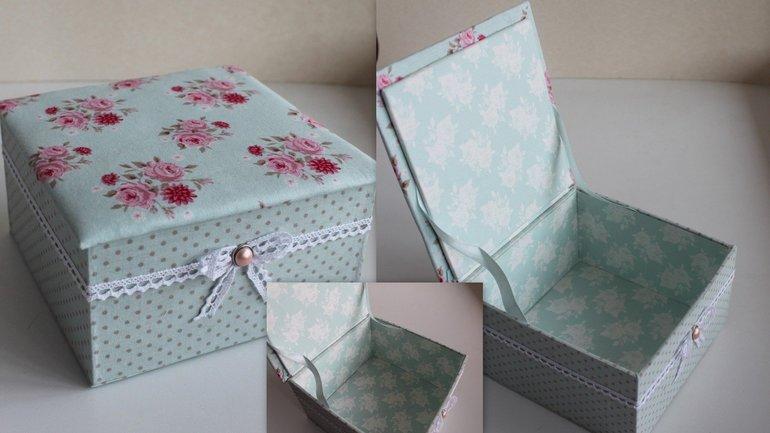 Простые способы декорирования коробок бумагой