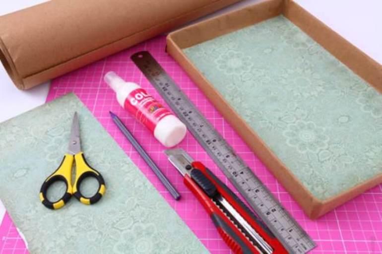 Инструменты и материалы для декорирования коробок