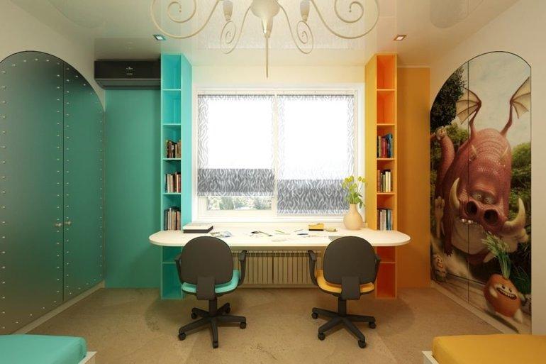 Интерьер детской для мальчика и девочки вместе: зонирование пространства, варианты оформления, выбор стиля