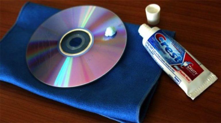 Зубная паста от царапин на CD