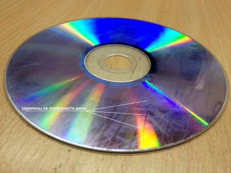 Царапины на CD
