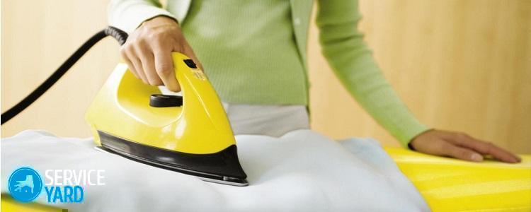 Как убрать пятно от утюга