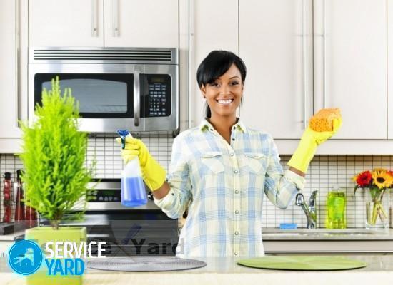 Cредство от жира на кухне - Уборка в квартире
