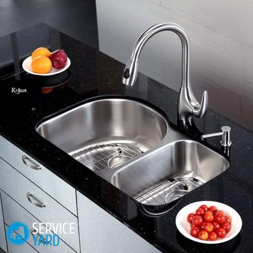 Кухонная мойка двойная Kraus KBU-21 11_enl