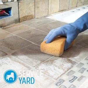 Как отмыть шершавую плитку на полу 🥝 чем очистить и оттереть кафель, средства