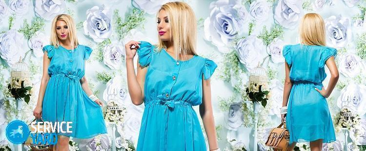 Как гладить шифоновое платье?