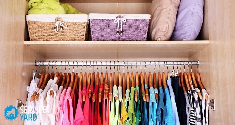 Как навести порядок в шкафу с одеждой?