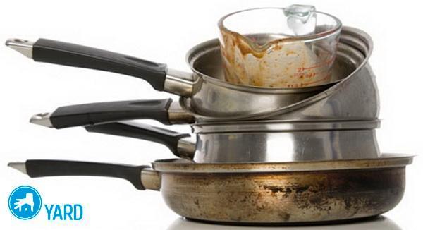 Как отмыть пригоревшую кастрюлю; чем отчистить дно, если пригорело, чистка от накипи содой