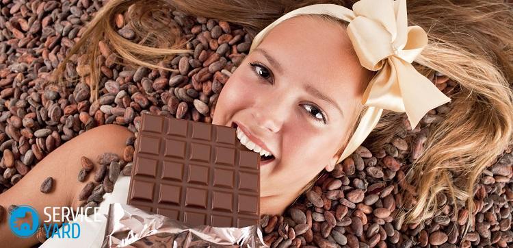 Как отстирать шоколад с белой одежды?
