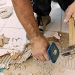 Как очистить плитку от цемента для повторной установки?