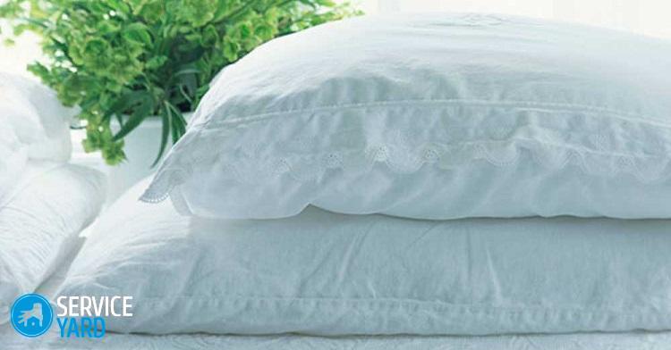Как постирать подушку из пера в домашних условиях?