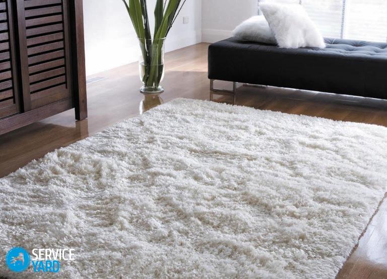 Как почистить ковер с длинным ворсом в домашних условиях?