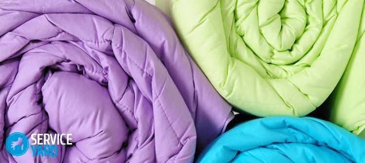 Стирка одеяла в прачечной