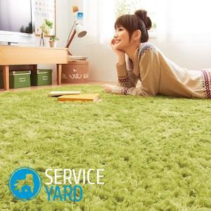 Чистка ковров Ванишем в домашних условиях