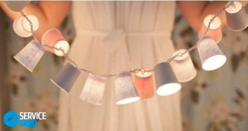 Гирлянда из лампочек своими руками