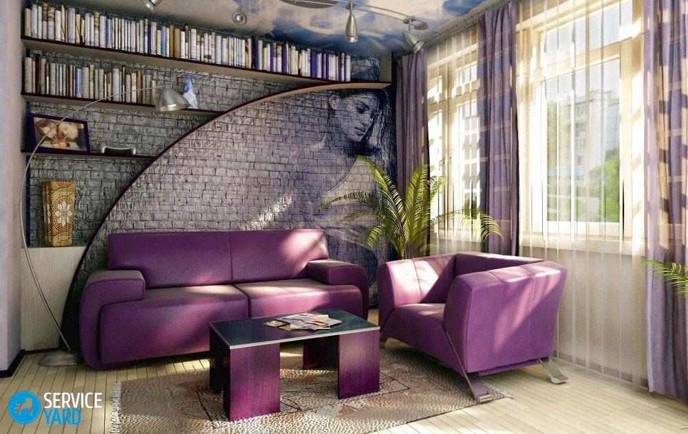 Дизайн стен под кирпич