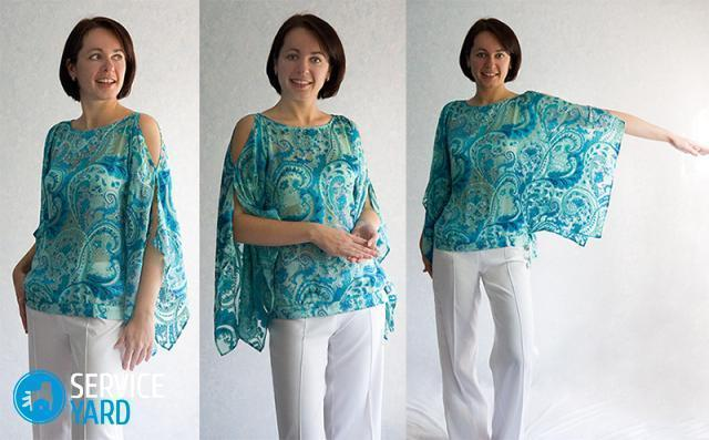 Блузка из шифона своими руками - выкройки