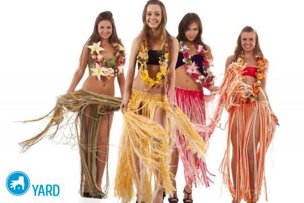 Гавайская юбка из рафии