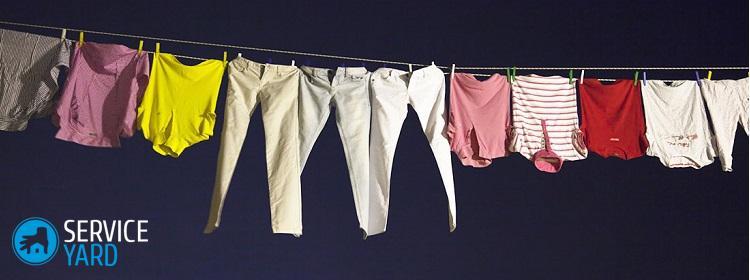 Покрасилась при стирке одежда �� как отстирать белую вещь