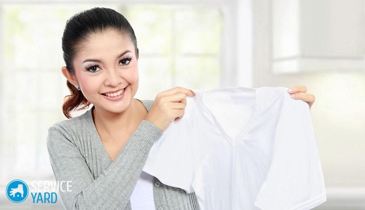Желтые пятна на белой одежде как вывести?