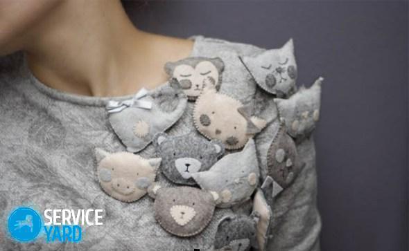 Аппликация на одежду своими руками