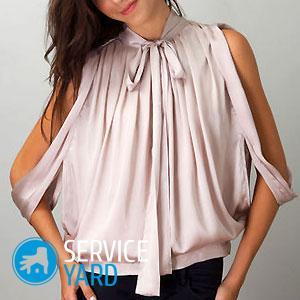 Блузка из шифона своими руками — выкройки