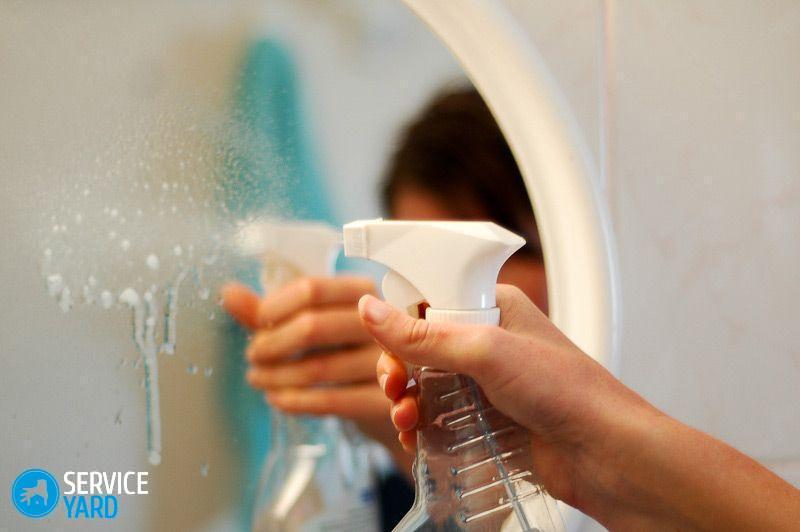 Чем помыть зеркало без разводов в домашних условиях? Уборка в квартире