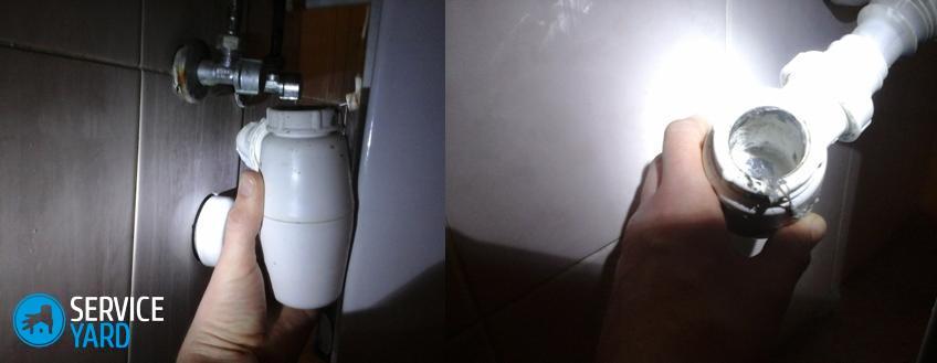 Чистка сифона в домашних условиях