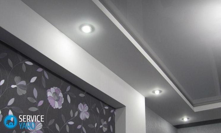 Дизайн натяжных потолков с точечными светильниками
