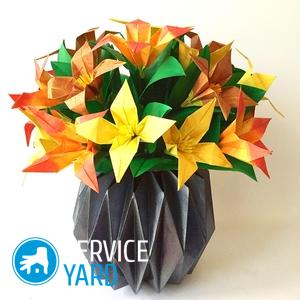 Как сделать вазу из бумаги своими руками — оригами, простую?