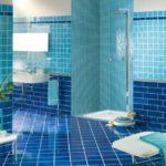 Дизайн синей ванны