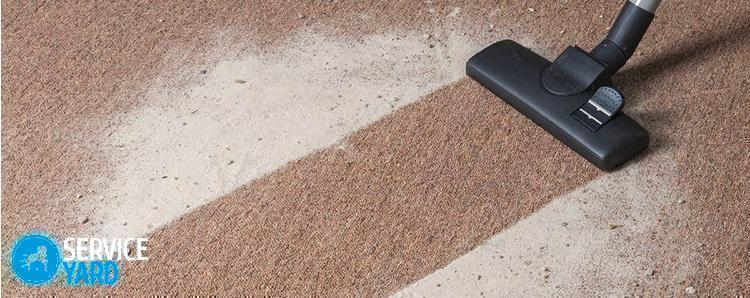 Как очистить ковер в домашних условиях? Сода, уксус, порошок - Уборка в квартире