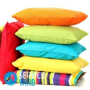 Как чистить перьевые подушки в домашних условиях