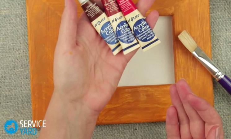 Как покрасить рамку для картины