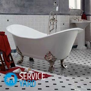 Высота установки ванны от пола
