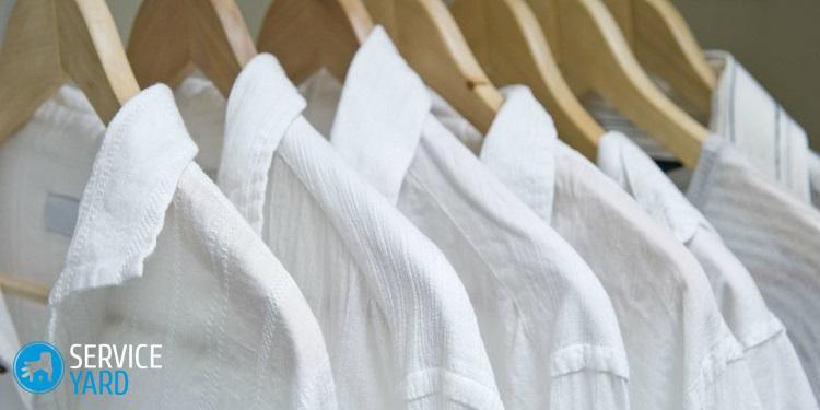 Как отбелить воротник у белой рубашки в домашних условиях?