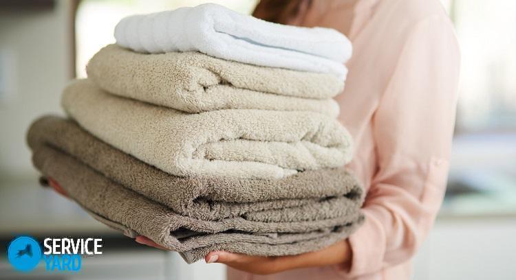 Как отстирать махровые полотенца застиранные