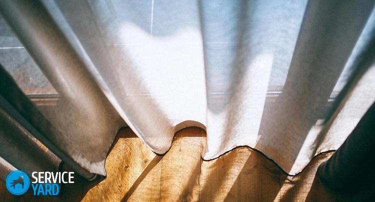 стирка штор с люверсами