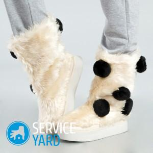 Как почистить мех на обуви белый?