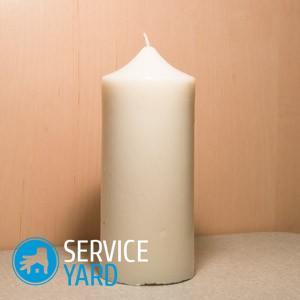Как удалить пятно от воска свечи с одежды