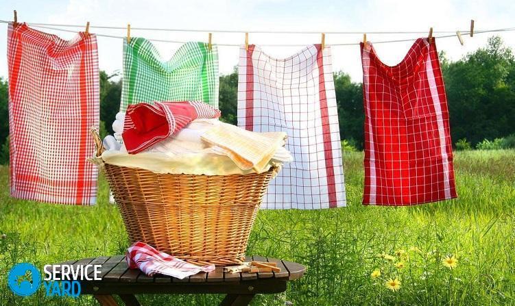 Как отстирать кухонные полотенца в домашних условиях без кипячения?