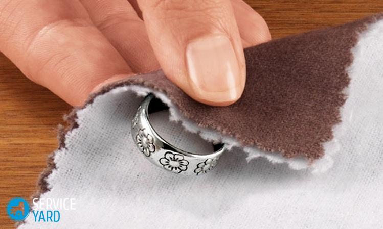 Как чистить серебро в домашних условиях перекисью