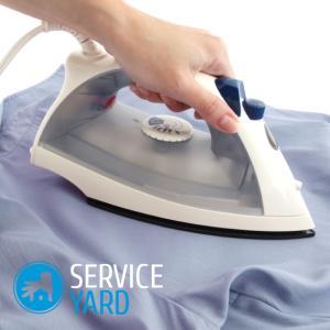 Как убрать лоск от утюга на одежде?