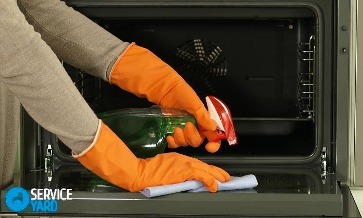 Как отмыть стекло в духовке изнутри?