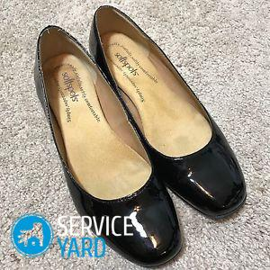 Как почистить лакированную обувь?