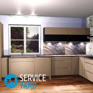 Дизайн кухни с мойкой у окна