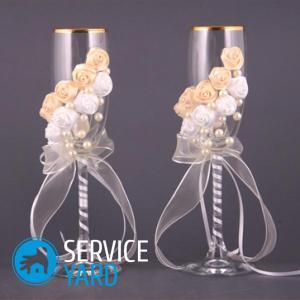 Бокалы своими руками для жениха и невесты 954