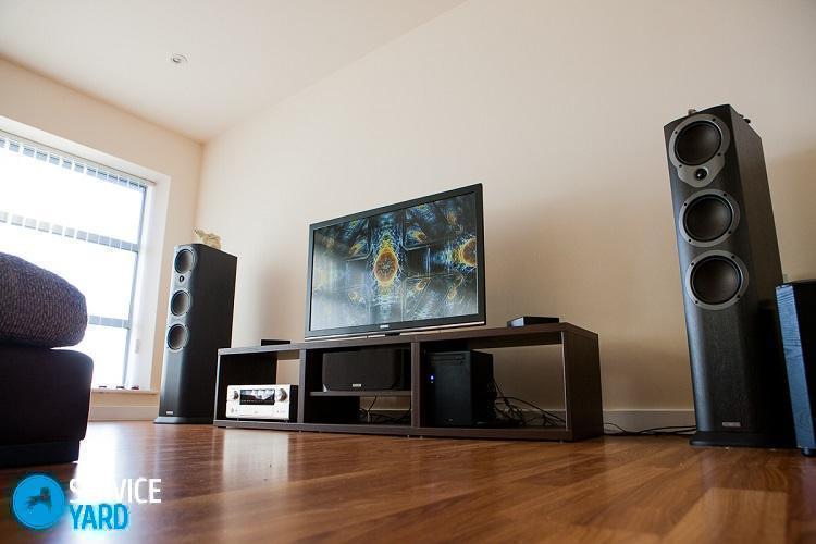 Как подключить колонки от домашнего кинотеатра к телевизору?
