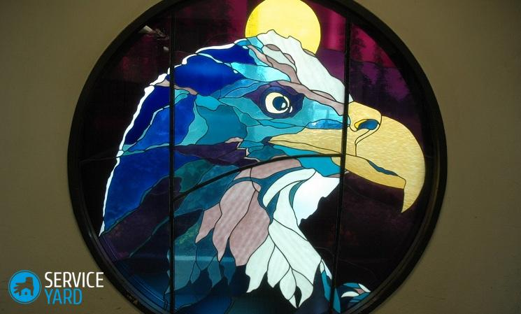 eagle-stained-glass