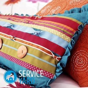 Как сшить подушку из поролона?